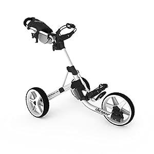 Clicgear Model 3.5+ | 3-Wheel Golf Push Cart (Arctic/White)