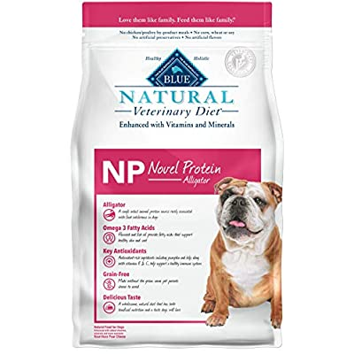 Blue Buffalo Natural Veterinary Diet Novel Protein-Alligator for Dogs 6Lbs