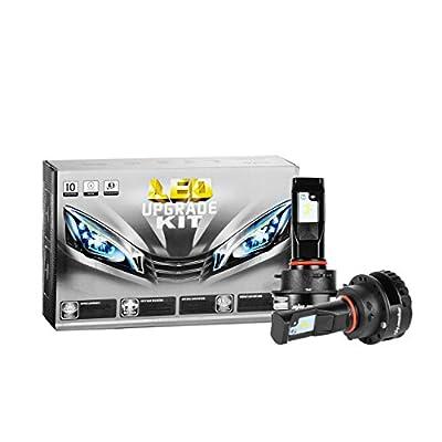 Eyourlife Colbeam V4 LED Headlight Bulbs 9005-9006 Headlight Conversion Kit 35w 7200Lm 6000k Cool White Driving Headlight Lamp, Pack of Two