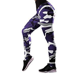 5182e14fcfe Yalasga Women Camo High Waist Ruched Butt Fitness Yoga Leggings Pants  Running Gym Workout Sports Athletic Trousers