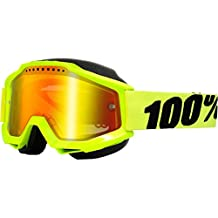 100% unisex-adult Goggle (Yellow/Mirror Red,One Size) (ACCURI SNOW ACC SNOW Yellow/Mirror Lens Red)