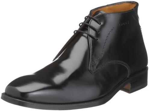 GANT Burlington Black Leather 45.42058A001, Herren Klassische Halbschuhe, schwarz, (black A001)