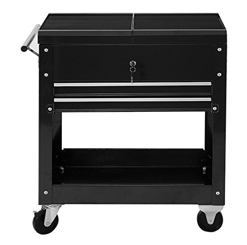 Rolling Mechanics Tool Cart Tool Chest Roller Utility Storage Cabinet Tool Box Organizer Rolling Garage Craftsman Toolbox Drawer Cart, Cold-Rolled Steel Material, Powder Coated Paint (6 Drawer Quiet Glide Chest)