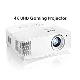 Optoma UHD30 True 4K UHD Gaming Projector | 16ms Response Time with Enhanced Gaming Mode | Lowest Input Lag on 4K Projector | 240Hz Refresh Rate | HDR10 & HLG