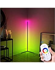 Corner Floor Lamp - YueME RGB Colorful LED Floor Lamps with Remote Control, Adjustable Nordic Minimalist Colour Changing Floor Ambiance Light for Living Room Bedroom Office Decor