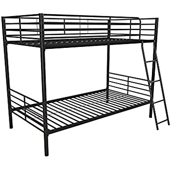 Amazon Com Dhp Twin Over Twin Bunk Bed With Metal Frame