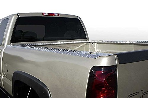 (Qmi BC2304DPSP- Dodge Ram Short Bed Pickup Bed Rail Caps With Stake Pocket Holes Diamond Treadbright Polished Aluminum Set Of 2)