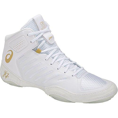ASICS JB Elite III Men's Wrestling Shoes, White/Rich Gold, Size 9.5 ()