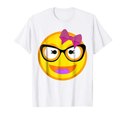 Smiling Emojis Buck Teeth Girl Nerd Glasses Costume Shirt