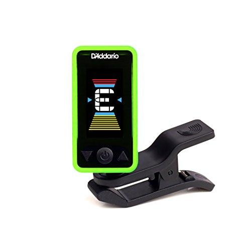 Pitch Center Chromatic Tuner - D'Addario Accessories Eclipse Headstock Tuner, Green