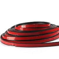 Turobayuusaku 5m Self Adhesive Rubber Seal Strip Car Door Seal Trim Noiseproof B-Shaped