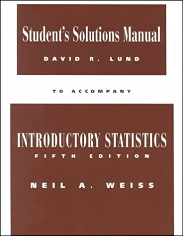 Amazon student solutions manual to accompany introductory amazon student solutions manual to accompany introductory statistics 9780201883220 n a weiss books fandeluxe Images