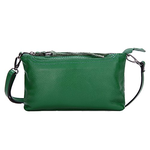 with Green Women's Crossbody Tassel Bag Handbag Shoulder SEALINF Leather Purse w6x14qxvp