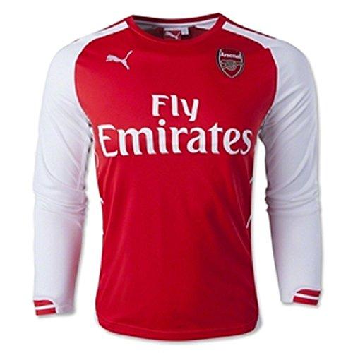 Puma Podolski # 9 Arsenal Home Jersey 2014/15 Manica lunga (L)