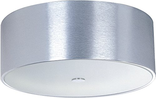 ET2 E22700-77 Percussion 3-Light Flush Mount, Polished Chrome Finish, Glass, MB Incandescent Bulb, 2.5W Max., Damp Safety Rated, 2700K Color Temp., Standard Triac/Lutron or Leviton Dimmable, Glass Shade Material, 2500 - 77 Percussion