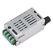 DROK® DC Motor Speed Controller Board DC 12-60V 420W 20A Stepless PWM Controller Module 12V/24V/36V/48V Variable Voltage Regulator Cooling Fans Dimmer Governor Pulse Width Modulator LED Indicator Switch Function