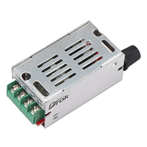 12V Motor Speed Controller, DROK DC Motor Driver Board for Brush Motor 7V-60V 20A 420W PWM Control 12V 24V 36V 48V Regulator Cooling Fans Dimmer Governor Pulse Width Modulator with Adjust Knob