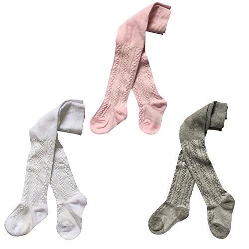Stocking Season (TAIYCYXGAN Baby Girls Flower Legging Pants 3 Pack Tights Panties Stockings)