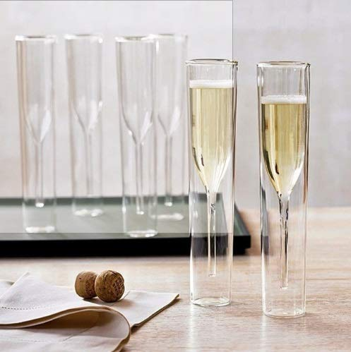 Taka Co Champagne Flutes Eur Style Double Layers Glasses Champagne Flutes Goblet Bubble Wine Tulips Cocktail Wedding Glass Cup Bodum Design Thule -