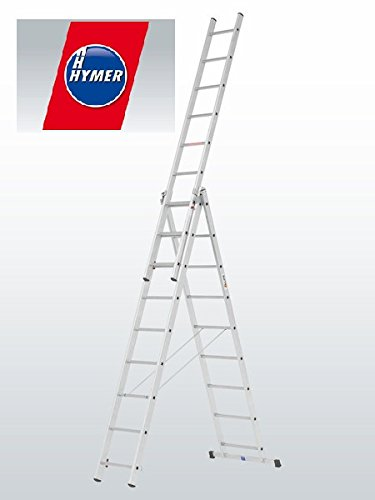 9 Rung TRADE Combi All-In-One Extension Ladder, Step Ladder & Free Standing Combination Ladders by Hymer (Free Standing Combination)