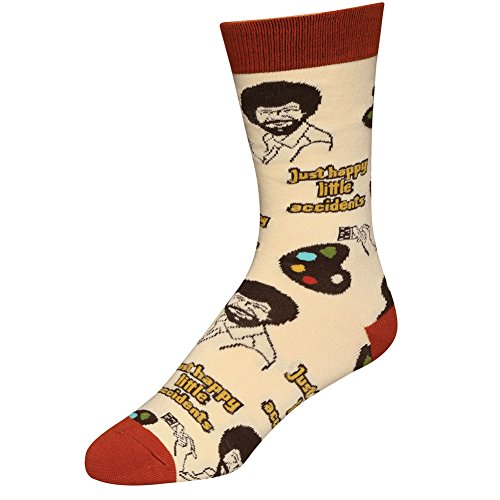 Oooh Yeah Socks, Men's Cotton Crew Sock (Happy Lil Accidents) from ooohyeah