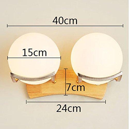 Anbiratlesn Modern Wandleuchten E27 Antik Wandlampe Vintage Rustikal Wandlampe für Schlafzimmer Wohnzimmer Bar Flur Badezimmer Küche Balkon Innen Lampe Bett Massivholz Holz- gang-Led Wandleuchte