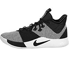 Paul George's latest lightweight signature model, the Nike PG3 is built to excel on the hardwood. Featuring a mesh upper with synthetic overlays, they also have a integrated tongue design, Zoom Air cushioning, and multi-directional traction o...
