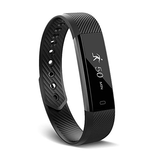 Arbily Fitness Tracker Watch,Activity Tracker Waterproof with Sleep Monitor,Smart Bracelet Smart Wristband Sport Pedometer Fitness Armbands Step Tracker Calorie Counter for Kids Women and Men(Black)