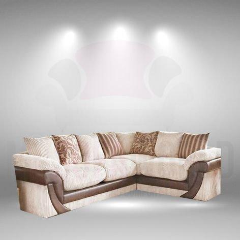My Sofa World Zara, Super cómodo Visón Tela sofá de Esquina ...