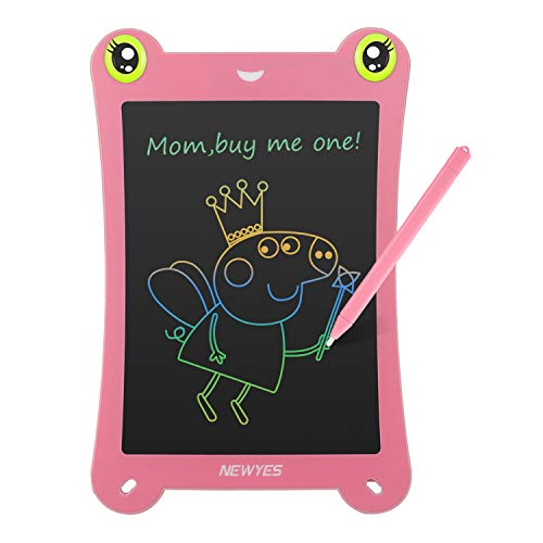 NEWYES 8.5 Inch Colorful Frog-pad Doodle Pad Drawing Board LCD Writing Tablet for Toys for Kids (Pink) ()