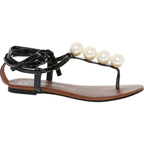 Jeffrey Campbell Taj bola perlas sandalias para mujer negro Fashion calzado zapatos, negro, (UK4) (EU37)