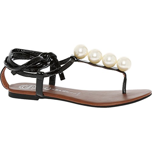 Jeffrey Campbell Taj Ball Perlglanz Sandale schwarz Fashion Damen Schuhe Schuhe