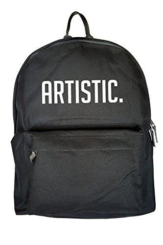 Artistic Art Drucken Rucksack Gelegenheits Schwarz Tasche GaPOH