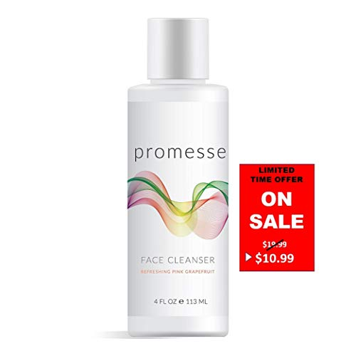 promesse   Spa Quality Daily Facial Cleanser for Acne Prone & Oily Skin. Anti-Aging, Mild Foaming Cleansing Gel + Face Wash with Salicylic/Glycolic/Lactic acid combined. Made in ()