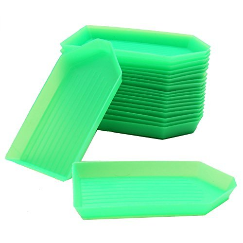 (HUELE 20 PCS Bead Sorting Trays Triangle Plastic 3.5 x2.2 Inch)