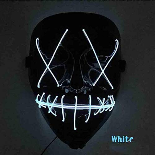 Halloween Festival Cold Light Single Line Dance Party LED Horror Glow Mask