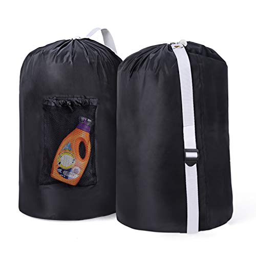 Wanapure 2 Pack Laundry Backpack with Mesh Pocket, 40