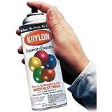Krylon K01613A00 Semi Flat Black Five Ball Interior/Exterior SPR, 12 Oz (Pack of 6)