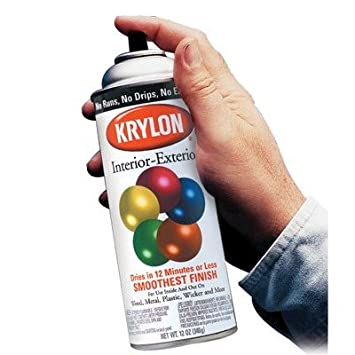 Krylon 425 K01602a00 Ultra Flat Black 5 Ballinterior Exterior Spray Paint