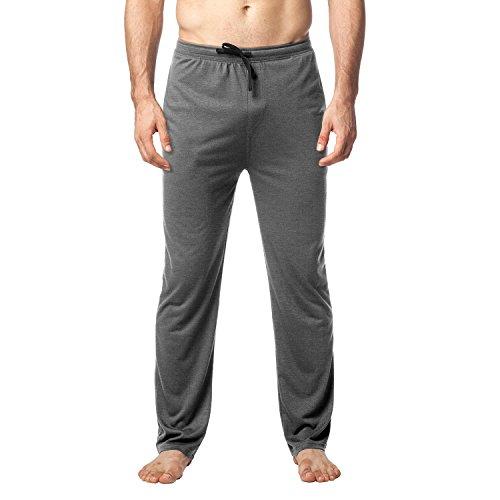 (LAPASA Men's Ultra Soft Pajama Pants Jersey Knit Lounge Sleep Pants PJ Bottom with Drawstring M23 (M Waist 32