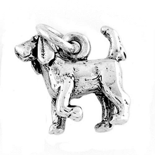 Sterling Silver Bloodhound Dog Charm/Pendant Jewelry Making Supply Pendant Bracelet DIY Crafting by Wholesale Charms