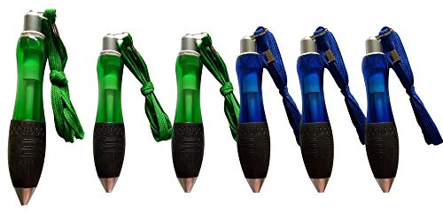 5 piece jumbo fat pen arthritis writing pen large big pen rubber grip ballpoint pen lanyard medium point blue ink