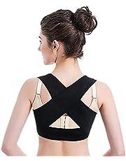 Sonew Cinturón de Soporte del Pecho Pecho Corrector de la Postura de Las Mujeres Postura Correcta de la Joroba Postura del Sujetador del corsé Postura del Sujetador(XL-Black)
