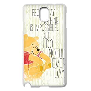 Samsung Galaxy Note 3 N9000 2D Customized Phone Back Case with Winnie the Pooh quote Image