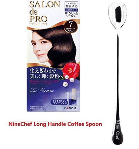 Dariya Salon De professional The cream hair color (for gray hair) (pack 2, 7 Darkest Brown)