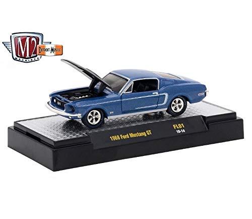 M2 Machines 1968 Ford Mustang GT - Detroit Muscle Fun Lines Exclusive Release 2017 Castline Premium Edition 1:64 Scale Die-Cast Vehicle (FL01 18-14)