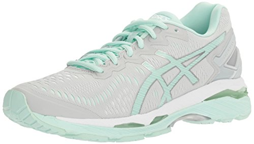 ASICS Women's Gel-Kayano 23 Running Shoe, Poseidon/Silver/Cockatoo, 9.5 M US
