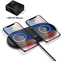 DOSHIN Fast Wireless Charger 10W Double Wireless Charging Pad Compatible with iPhone 11/11Pro/X/Xs Max/XR/8 Plus...
