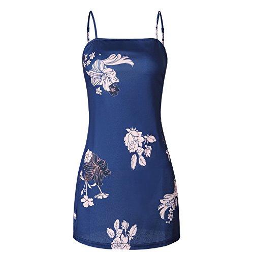 Navy Bow Sexy RAFAGO Blue Strap Dress EqdEIw