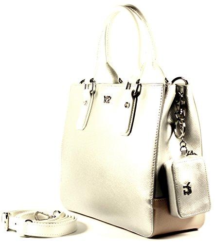 YNOT Tasche MELODY C Damen Leder Silver - MC01PM39 uiPoxT